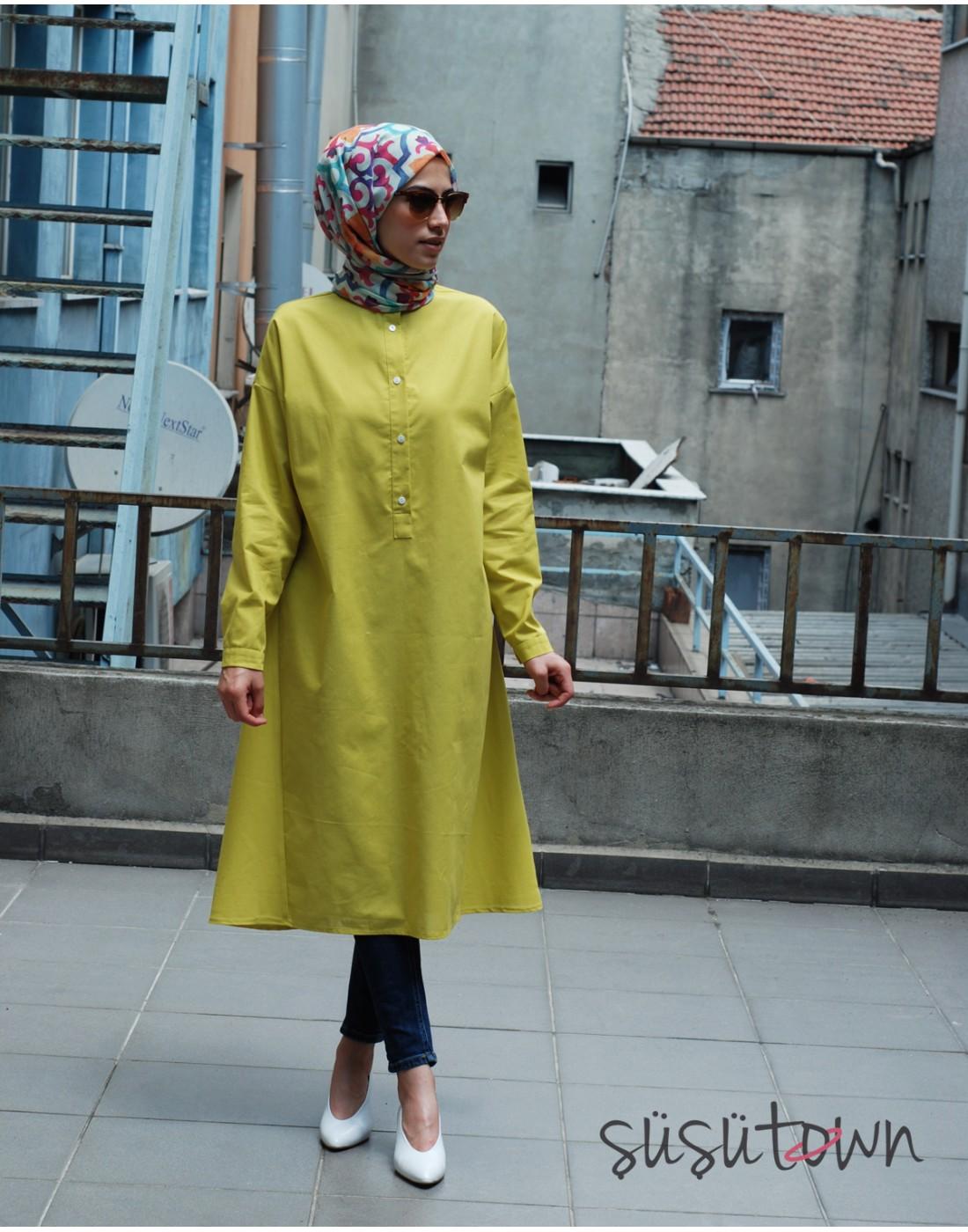 Oversize Tunik Sarı