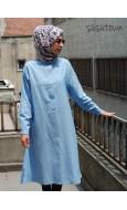 Oversize Tunik Mavi