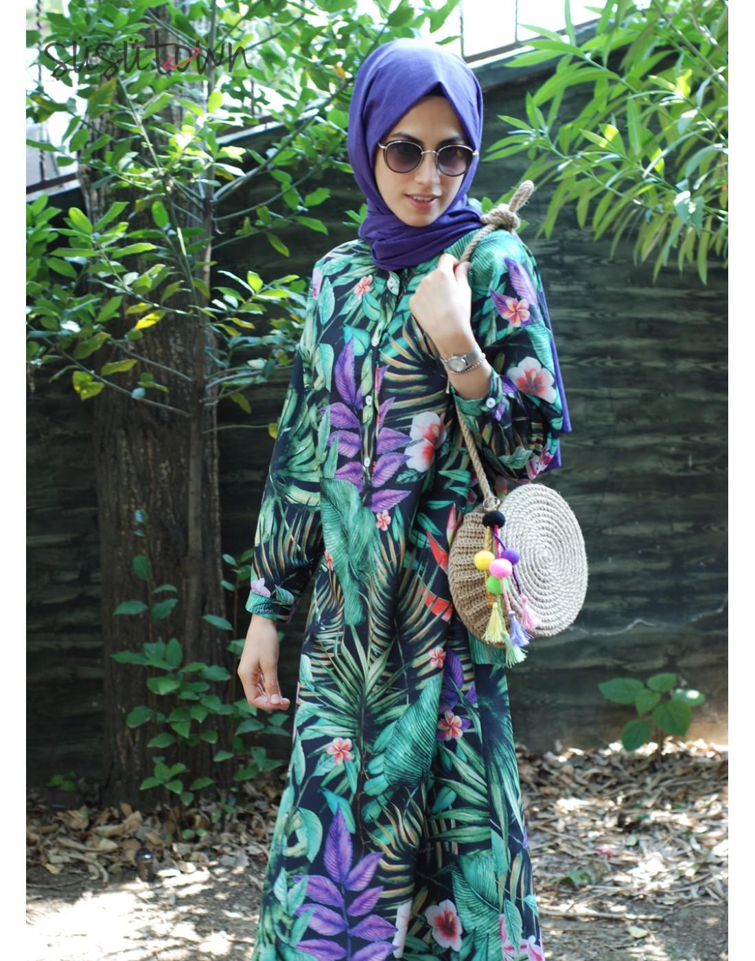 Oversize Palmiye Elbise