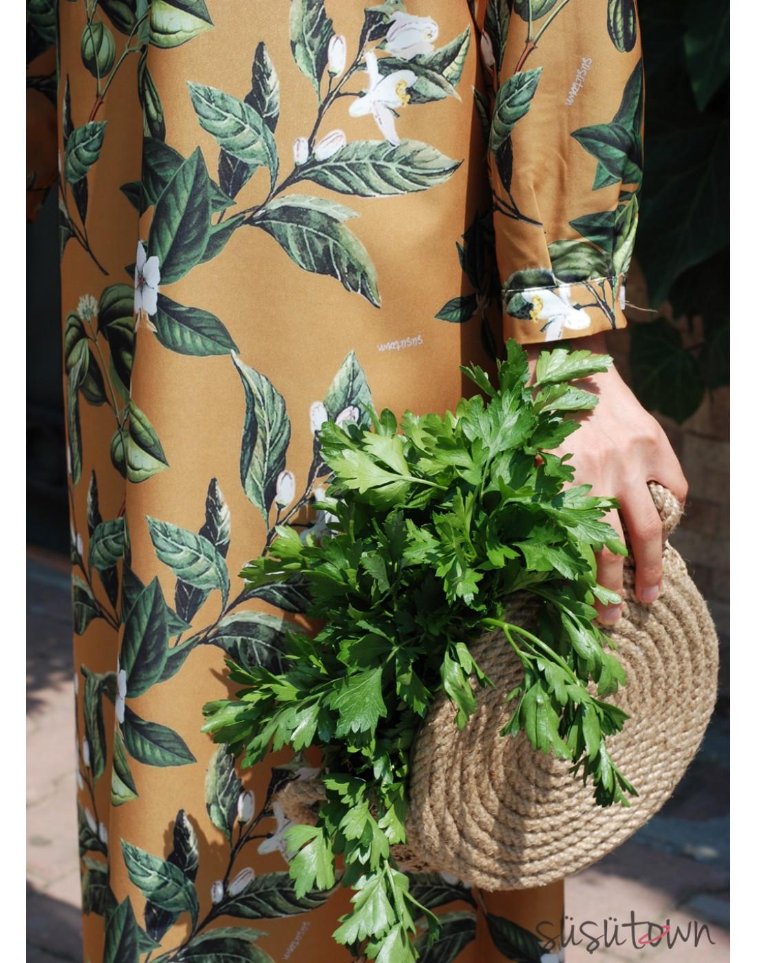 Oversize Çiçek Elbise