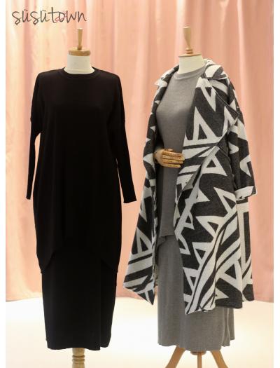 Triko Etek&Tunik Takım Siyah