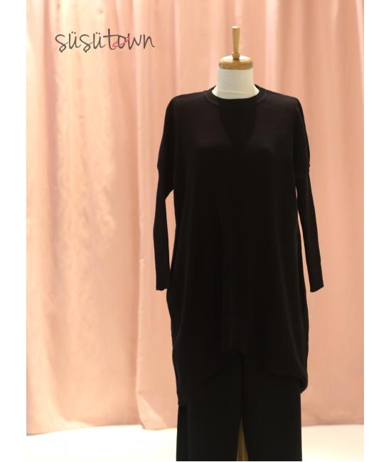 Triko Pantolon&Tunik Takım Siyah