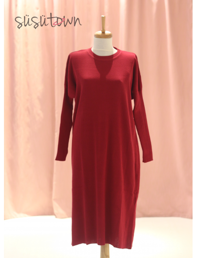 Triko Tunik Bordo