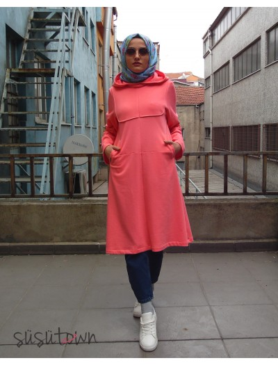 Easy Sweatshirt Pembe