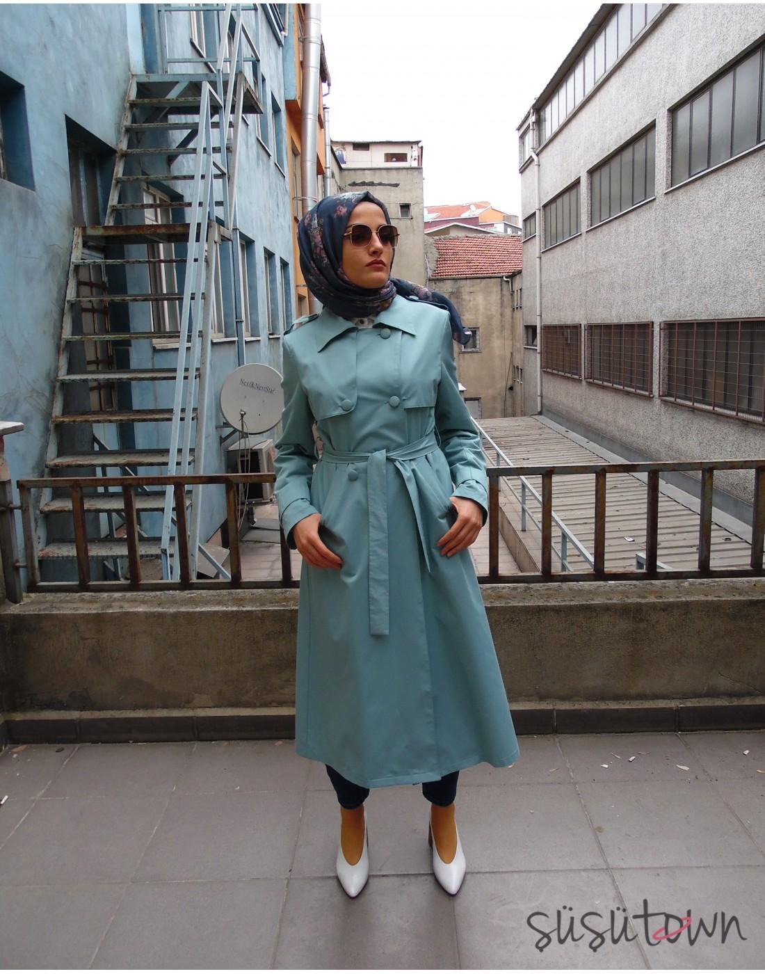 Mina Trençkot Çağla Yeşili