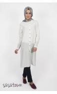 Basic Beyaz Klasik Tunik