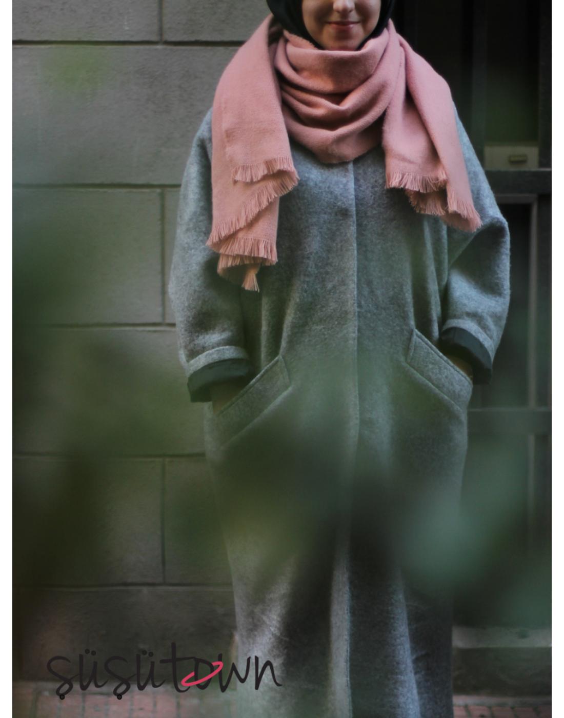 Kışlık Yün Şal Somon
