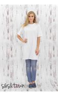 Basic Tshirt Tunik Beyaz