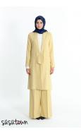 Keten Sarı ceket