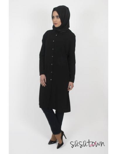 Basic Siyah Klasik Tunik