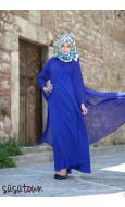 Kaftanlı Elbise Lacivert
