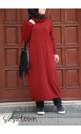 Basic Triko Tunik Bordo - Standart Beden