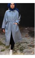 Ovy Oversize Mavi Kaban - Standart Beden