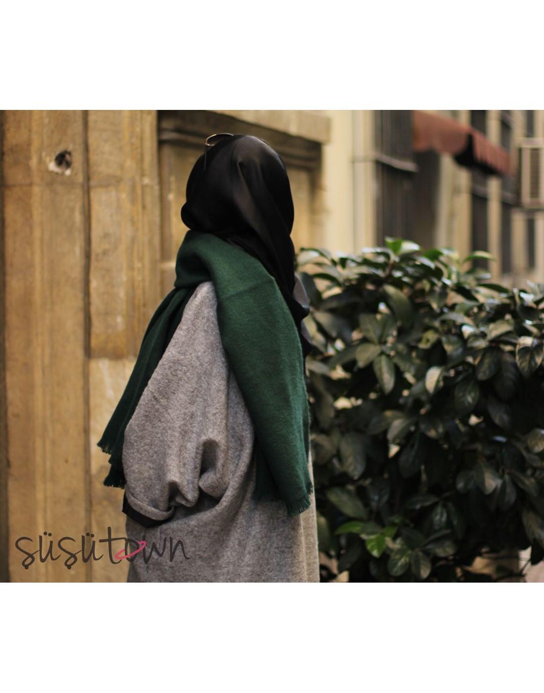 Kışlık Yün Şal Yeşil