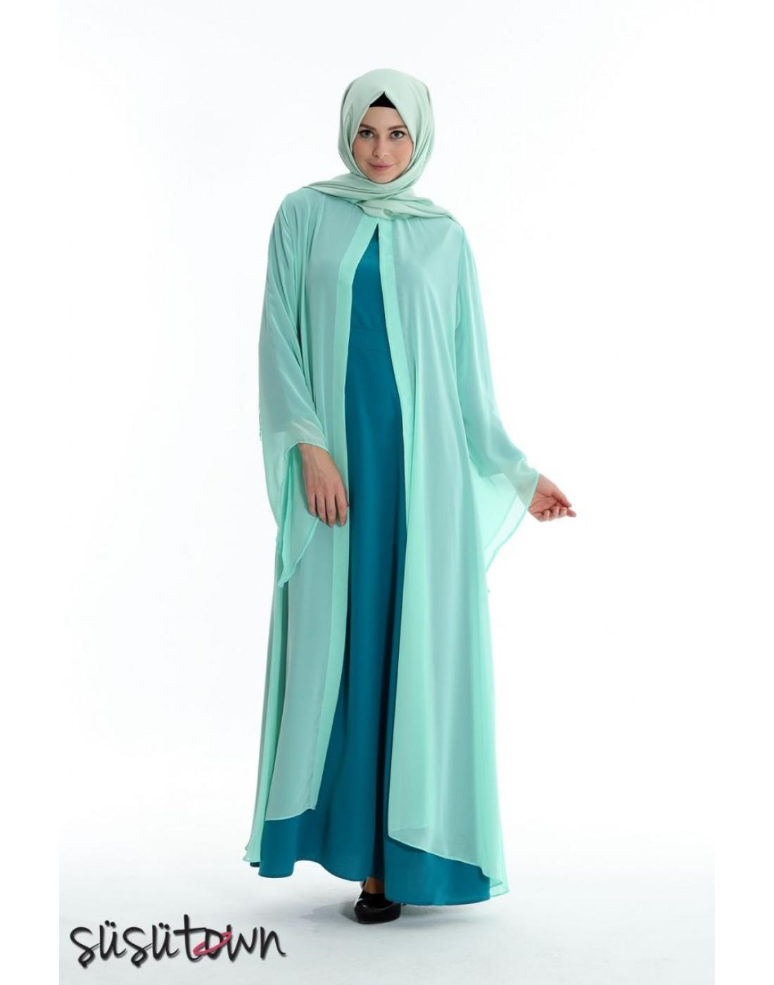 Kaftanlı Elbise Yeşil