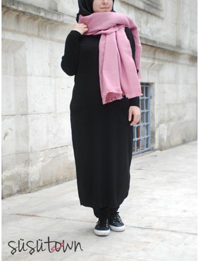 Basic Triko Tunik Siyah - Standart Beden