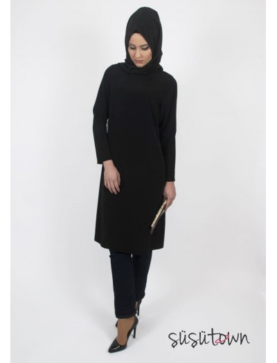 Basic Siyah Tunik