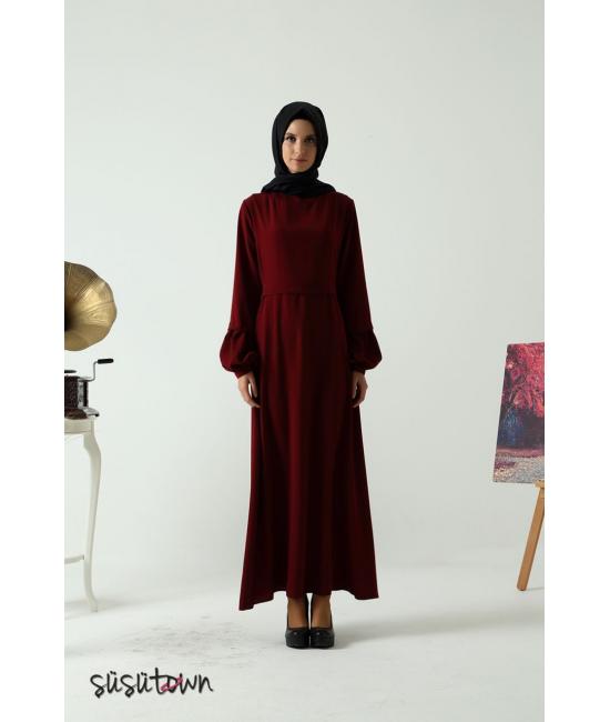 Başak Bordo Elbise