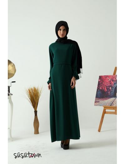 Başak Yeşil Elbise