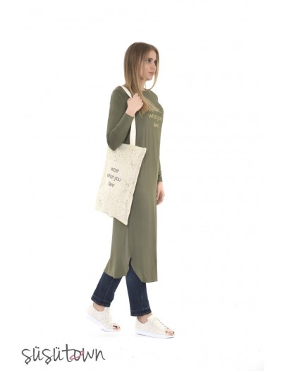 Love Elbise Tunik Yeşil
